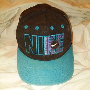 Vtg Nike Just Do It Spellout Swoosh Snapback Hat